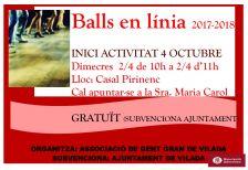 Cartell balls en línia