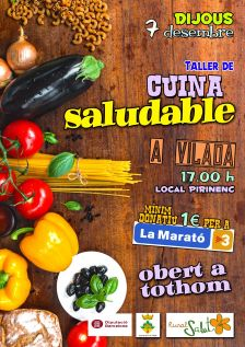 Cartell cuina saludable