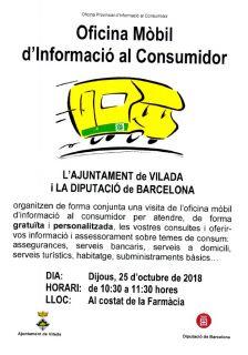 Cartell oficina mòbil d'informació al consumidor